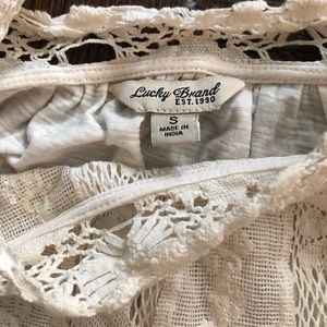 Lucky Brand Tops - Lucky brand white lacy top